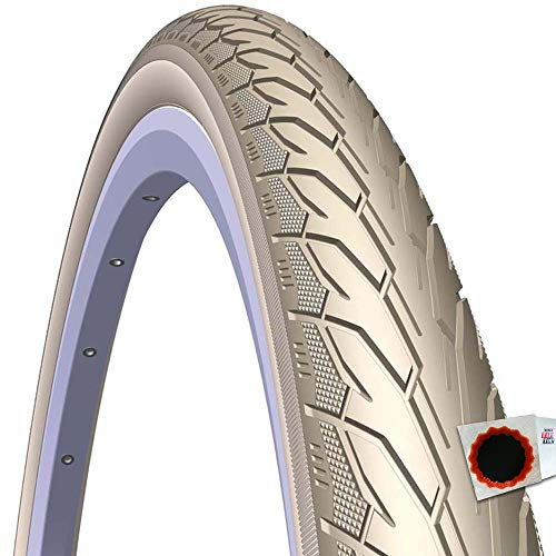 Mitas Reifen Flash V 66 Classic 22 28x1.60 42-622 m. Reflexstr. Creme Fahrrad