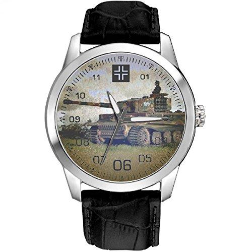 Panzer Kampfwagen VI Tiger Tanque importante WW-II Alemania Wehrmacht arte reloj de...