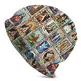 Bonnet Beanie Classique plissé,Saints Catholiques Images Collage Outh,Bonnet Beanie Long,Unisexe