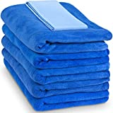 """Relentless Drive Large Car Drying Towel 24"""" x 60"""" (5 Pack) - Microfiber Car Wash Towels, Ultra Absorbent Microfiber Car Towels, Lint and Scratch Free Microfiber Towels for Cars, Trucks, SUV, Boat"""