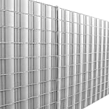 [neu.haus] Rollo de aislamiento (gris claro - plata)(35m) para vallas y demás superficies - Lámina de ocultación protege contra el viento