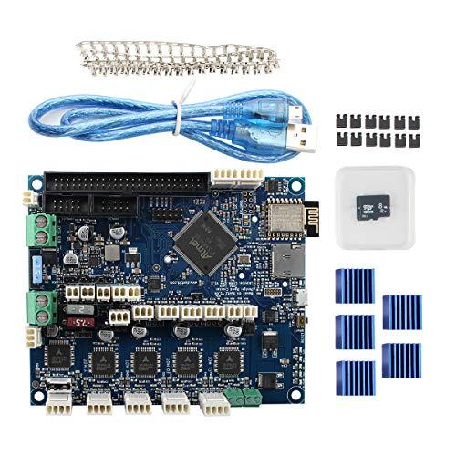 BCZAMD - Scheda controller per stampante 3D, clonata, versione duet 2 WiFi V1.04, scheda madre 32 bit compatibile con Anycubic Wanhao Ender 3 Lulzbot Prusa