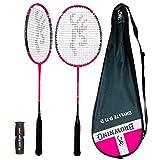 Browning Oxylite Nano Ti 75 - Raqueta de bádminton de carbono rosa (opciones, juego o dobles disponibles) (1 raqueta, cubierta y lanzaderas)