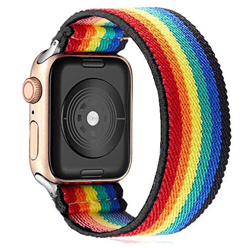 Correa Scrunchie para Apple Watch Band 40 mm 38 mm 44 mm 42 mm Bohemia Cinturón elástico Solo Loop Pulsera IWatch Series 3 4 5 Se 6 Band
