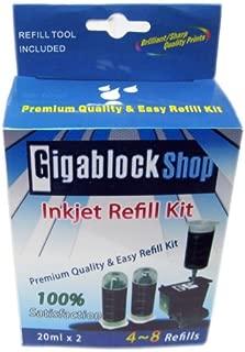 Gigablock Non OEM Pigment Black Inkjet cartridge Refill Kit for HP 364 564 178 862 364XL 564XL 178XL 862XL Cartridges