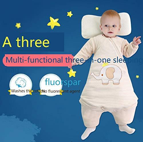 Baby Kid Peuter Fleece Slaapzak, Dikke anti-kick quilt, kleurrijke katoenen babyslaapzak-Crown Elephant, Baby Swaddle Deken Kinderwagen Wrap