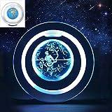 DIEFMJ Globo flotante magnético con mapa del mundo giratorio con luz LED para decoración flotante de mapa del mundo para uso en casa, escuela, oficina