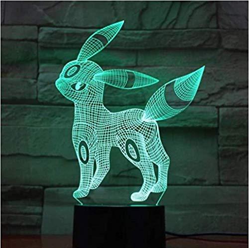 3D Hologram Lamp Pokemon Game Figures Nachtlampje LED Lamp Multicolor Jongen Kinderen Gift Kid Toy Vakantie Touch USB Gadgets