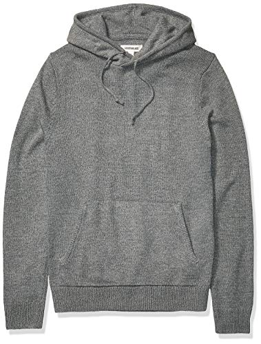 Amazon Brand - Goodthreads Men's Supersoft Marled Pullover Hoodie Sweater, Heather Grey Large