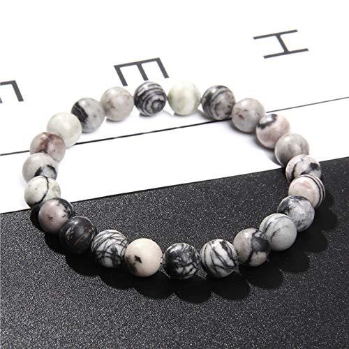 K-ONE Diverse Natural Stone Bracelets 8Mm Beaded Bracelets Stone Bangles For Women Men Jewelry