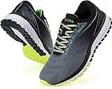 WHITIN Zapatillas Deportivo Hombre Zapatillas de Running Calzado de Deporte Transpirable Sneaker Casual Gimnasio Fashion Bambas Ligero Athletic Outdoor Trail Fitness Gym Montaña Gris Negro EU 42