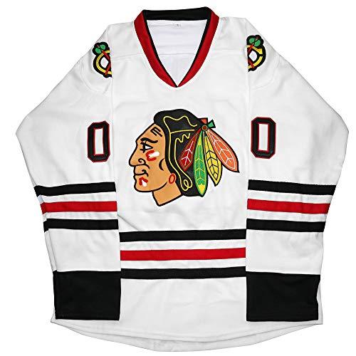 Kobejersey Clark Griswold Jersey #00 X-Mas Christmas Vacation Movie Hockey Jersey Stitched Men Ice Hockey Jerseys (White, XXXL)