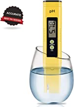 Digital PH Meter, PH Meter 0.01 PH High Accuracy Water Quality Tester with 0-14 PH Measurement Range for Household Drinking, Pool and Aquarium Water PH Tester Design with ATC (2019-Yellow)