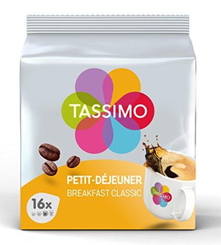 Tassimo Café Dosettes - 80 boissons Petit Déjeuner (lot de 5 x 16 boissons)