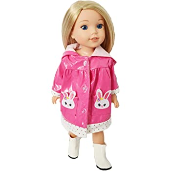 Brittanys Butterfly Raincoat with Boots Compatible with American Girl Dolls 18 Inch Doll Clothes`