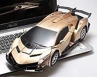 Ycco ゴールド子供のリモートコントロール変形カーのためにキッズ、RCロボット車のおもちゃ1時14分6歳RCレーシングカーのために少年女の子ライトアップのためにRCカー2では1変形RCカートランスフォーマー玩具クリスマスギフト