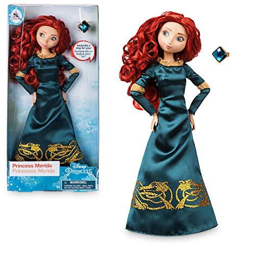 Disney Oficial Valiente - 30 cm Merida Classic Doll con Anillo