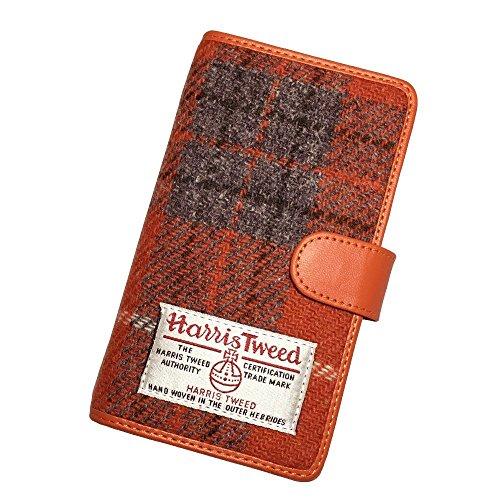 HIGHCAMP ハンドメイド 多機種対応 iPhone SE スライド式 スマホケース 手帳型 ハリスツイード チェック柄 ...