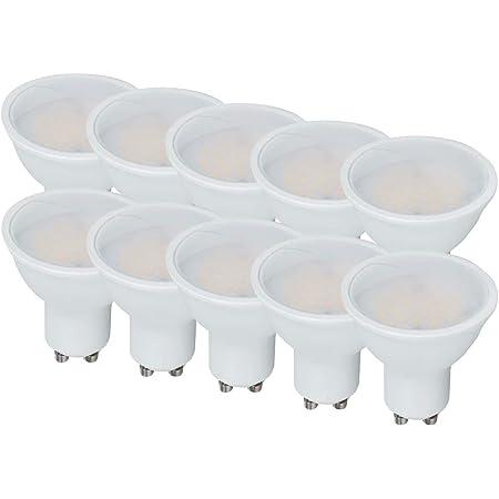 LEDLUX bombillas LED GU10, 10 W, 1000 lúmenes, difusor mate, ángulo de 110 grados, garantía de 5 años (10 PIEZAS, 4000K)