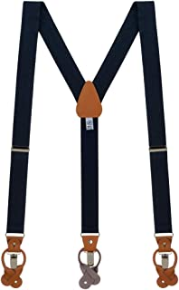 Oxford Kent by SuspenderStore Men's Oxford Cloth Suspenders - CONVERTIBLE