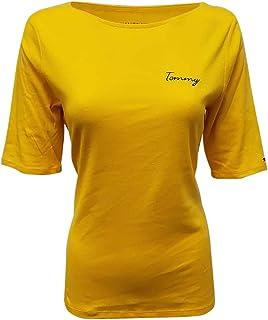 Womens 3/4 Sleeve T-Shirt (Medium, Gold)