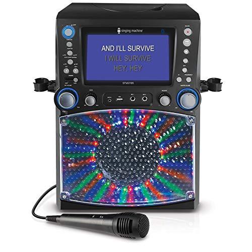 Singing Machine STVG785BTBK Karaoke mit 3 CD+G's schwarz