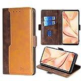 FiiMoo Handyhülle Kompatibel mit Oppo Find X2 Pro, [Weicher TPU] [Kartenfach] [Magnetverschluss] [Aufstellfunktion] PU Leder Tasche Flip Wallet Hülle Schutzhülle Hülle für Oppo Find X2 Pro -Braun
