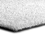 casa pura Kunstrasen Premium Color • Weicher Flor 25 mm • UV-beständig > 6000 h & wasserdurchlässig • Rasenteppich Meterware • Teppichrasen für Balkon, Terrasse, Deko (weiß, 100x300 cm)