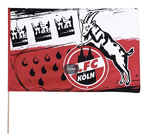 1. FC Köln Fahne/Stockfahne 40x60 cm ** Wappen **