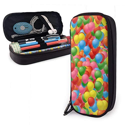 Federmäppchen mit Luftballons im Himmel, für Jungen und Mädchen, groß, für Studenten, Schule, Büro