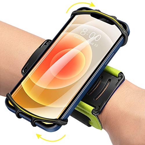 Newppon 360° Rotating Workout Cellphone Wristband : for iPhone 12 Pro Mini SE 2021 11 Pro Xs XR X 8 7 Plus, Fits All 4-6.7 Inch Smartphones,Armband for Running Cycling Walking Hiking Exercising