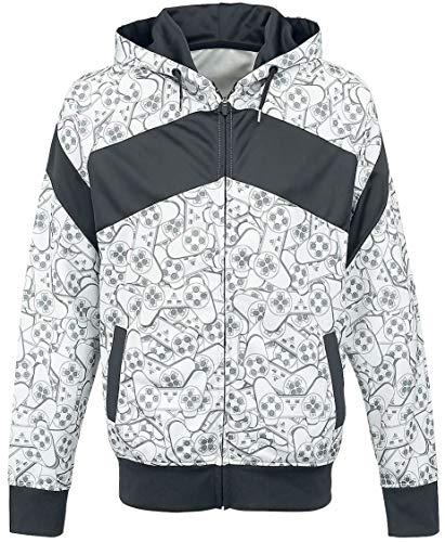 PlayStation - Controller Hoodie PS4 Trainingsjacke Jacke Sweatshirt Grau Gr.2XL
