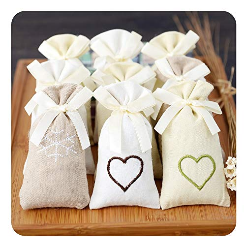 Buy Yao Space 9Pcs Flowers Buds Cloth Bag Sachets Dry Deodorant Craft Bag Dehumidifying Air Purifyin...