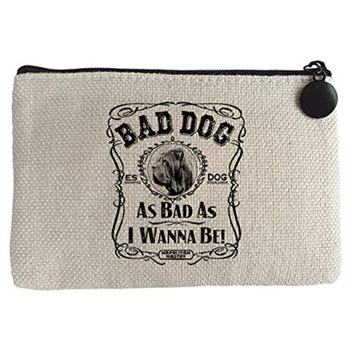 Diver Bebé Monedero frase perro raza Mastín Napolitano Napolitan Mastiff Bad dog as bad as I wanna be - Beige, 15 x 10 cm