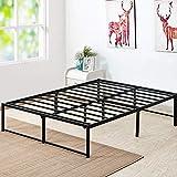 VECELO 14 Inch Platform Bed Frame/Mattress Foundation/No Box Spring Needed/Steel Slat Support (Full Size), Black