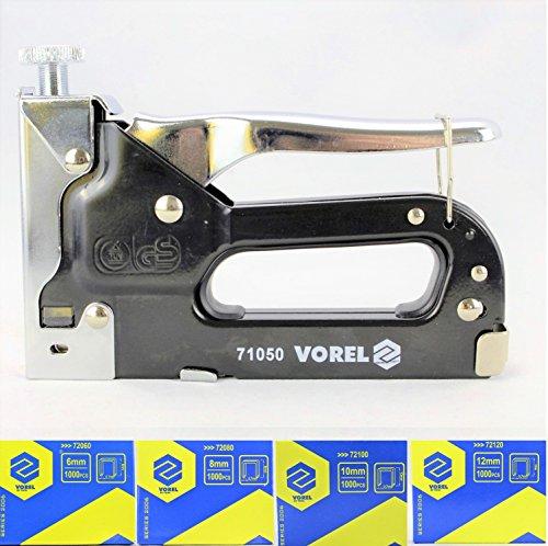 Tacker VOREL Handtacker Set inkl. 6000 Klammern 8mm - 12mm