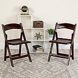 Flash Furniture Hercules Folding Chair - Red Mahogany Resin - 4 Pack 1000LB...