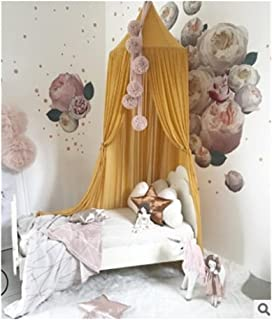 Nordic Style Princess Lace Kids Baby Bed Room Canopy Mosquito Net Curtain Bedding Dome Tent (Color : A)