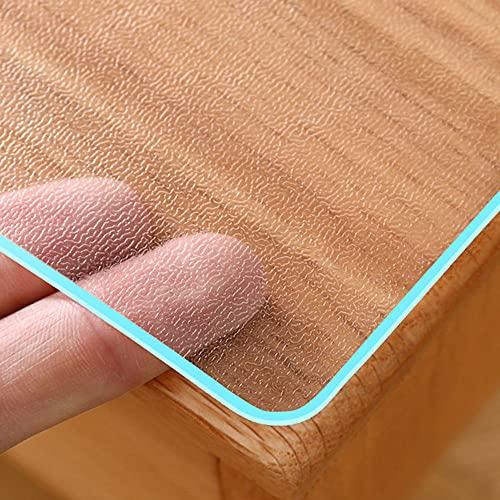 WANGYE369 Mantel De Vidrio Suave De PVC Mate Transparente Impermeable Y A Prueba De Aceite Mantel Lavables Suave Transparente Mate,Protector de Mesa de Comedor,Personalizable (80x280cm,2mm)