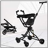 JKNMRL Trolley para niños, Trolley Plegable, con Ruedas universales, Pedales Ajustables y Sistema de absorción de Impactos SUV