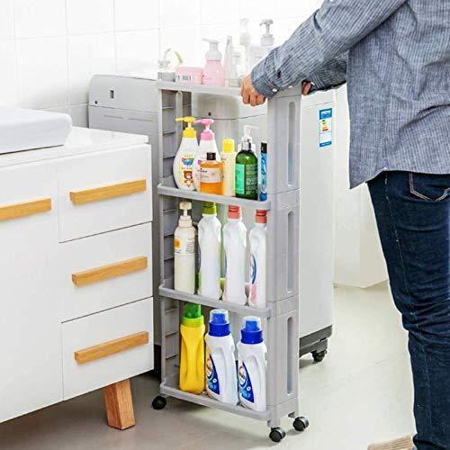 ZRXRY Ultradünnes Lücken-Speicherwagen, Raddesign, mehrschichtige Lagerung und Wagenküche hat einen kleinen Fußabdruck, geeignet für Küche, Bad und Wohnzimmer