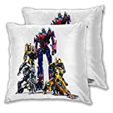 anzonto Throw Pillow Covers for Couch Transformers Age of Extinction Bumblebee optim Home Polyester Soft Square Cover for Sofa, Couch, Bed, Car, Cafe, Party 16x16 Inch Set of 2