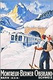 Poster 40 x 60 cm: Montreux, Berner Oberland von Travel