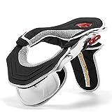 TZTED Collarin Proteccion Cuello Enduro Offroad Karting para Adultos Motocicleta Ciclismo Antifatiga Protector Guardia Off-Road Montar Cuerpo Protección Engranajes,Blanco