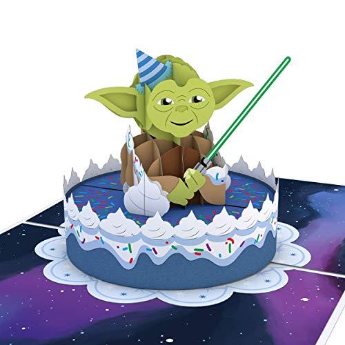 Lovepop Yoda Galaxy War 3D-Popup-Karte zum Geburtstag und Glückwunsch