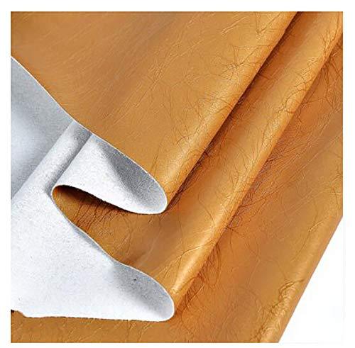 GERYUXA Piel para tapizarDe Polipiel para Tapizar Tela De ImitaciónCuero para Sofá Asiento De Coche Muebles Chaquetas Bolso Vendido por Metro-Deep Local Gold 9 1.38x1m