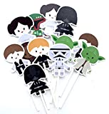 Warriors Cupcake Toppers Inspired 12 pcs, Star Party Supplies, Galaxy Warriors, Cake Picks, Baby Shower, Birthday Party Decorations, Supplies Baby Themed, Wars