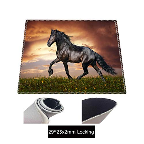 JUMOQI Horse Animal Extended Gaming Mouse Pad Mat Xxl gestikte Lock Edges Waterdichte Rubber Mousepad Keyboad Mat 400X900X5MM