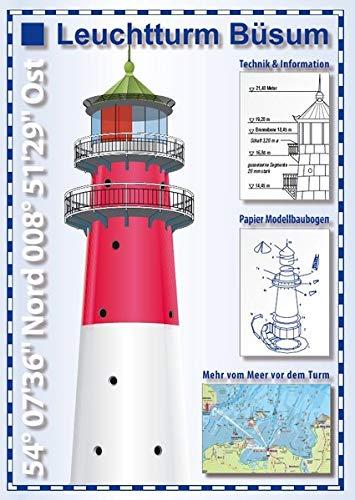 Leuchtturm Büsum - Se'h'karte und Papier-Modellbaubogen