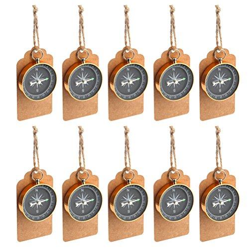 TOYMYTOY Compass Decorazione a sospensione 10Pcs - Bomboniere personalizzate per feste di compleanno